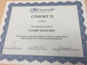 C21 certificate