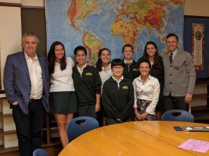 The 6 Degrees attendees meet with the Exec. Director of the ICC, Mr. Foran